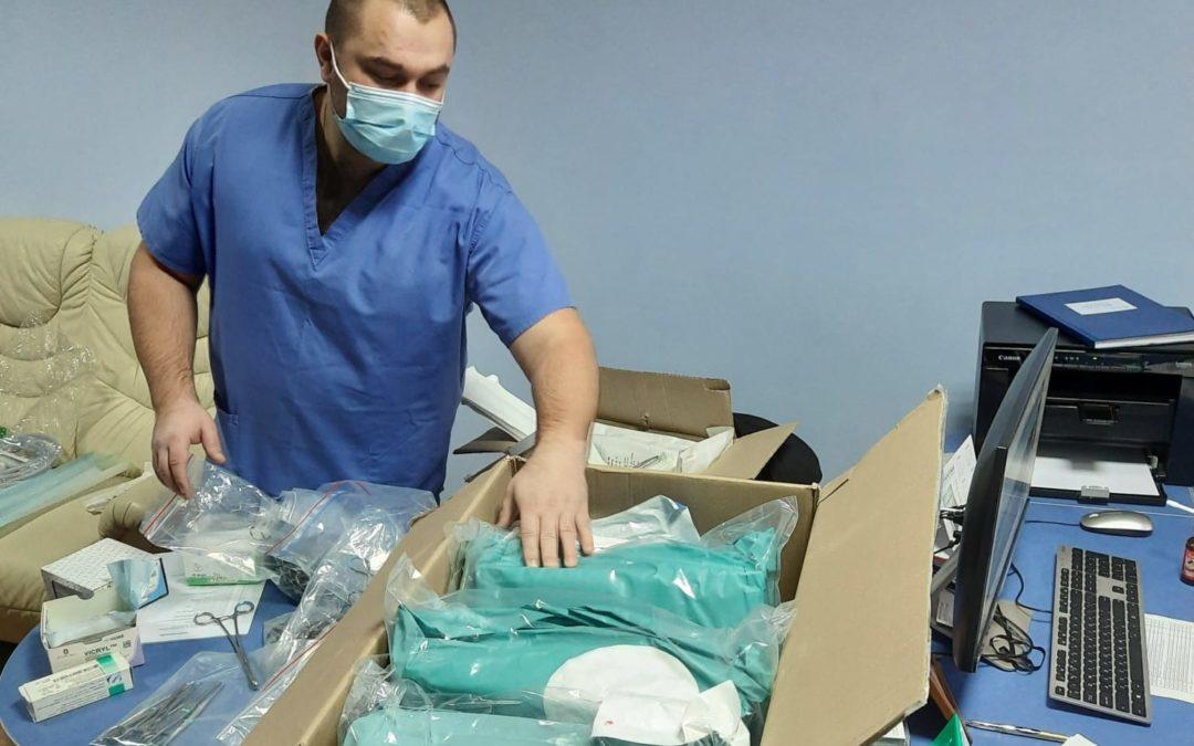 Envoi de materiel medical en Ukraine